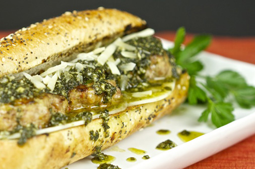 Grilled Italian Meatball Sandwich With Pesto Sauce | Recipes | Island ...