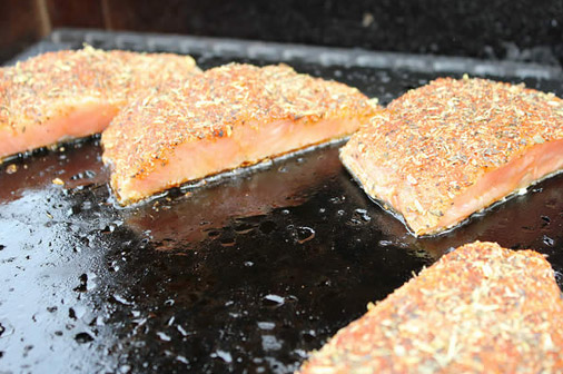 Tuscan Rubbed Salmon on the Island Grillstone